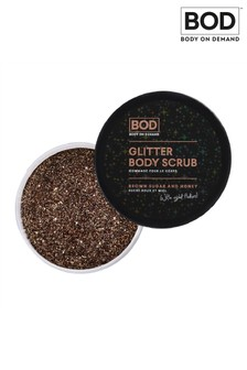BOD Glitter Body Scrub Brown Sugar, Honey and Rose Gold Flaked Scrub 200g