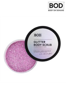 BOD Glitter Body Scrub Pink Salt and Coconut with Iridescent Glitter 200g