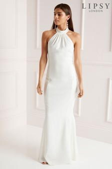 Lipsy High Neck Fishtail Bridal Maxi Dress