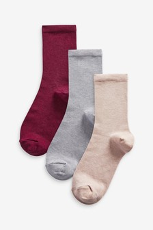 Merino Wool Blend Ankle Socks 3 Pack