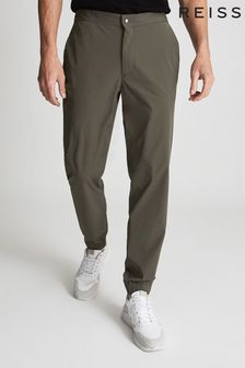 Reiss Green Mead Performance Cuffed Trousers