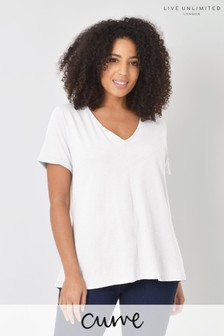 Live Unlimited Curve White Cotton Swing T-Shirt