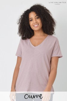 Live Unlimited Curve Lilac Cotton Swing T-Shirt