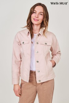 White Stuff Pink Dayton Denim Jacket