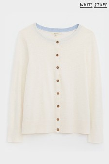 White Stuff White Lola Crew Neck Cardigan