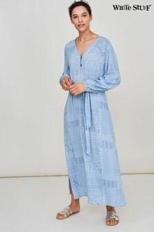 White Stuff Denim Patchwork Ecovero Maxi Dress
