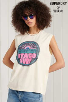 Superdry Cali Surf Graphic Tank Top