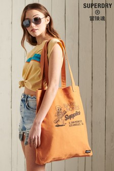 Superdry Canvas Graphic Tote Bag