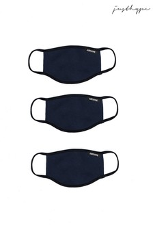 Hype. Adults Navy Face Covering Three Pack Set
