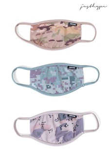 Hype. Adults Multi Calm Camo Face Covering Three Pack Set
