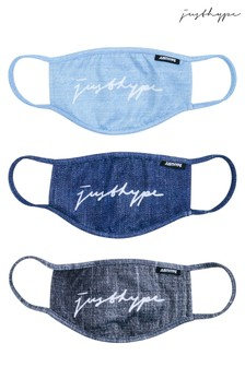 Hype. Adults Multi Denim Face Covering Three Pack Set