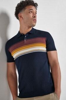 Horizontal Chest Stripe Polo