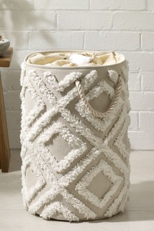 Tufted Geo Laundry Bag
