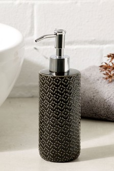 Black Geo Soap Dispenser