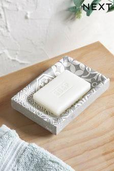 Tile Print Soap Dish