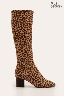 Boden Animal Round Toe Stretch Boots