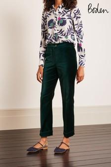 Boden Green Siddal Velvet Trousers