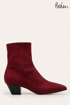 Boden Red Western Stretch Boots
