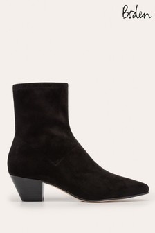 Boden Black Western Stretch Boots