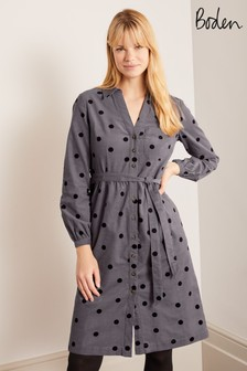 Boden Grey Olympia Shirt Dress