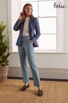 Boden Blue Kennford Tweed Trousers