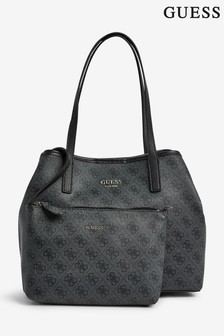 Guess Black Logo Vikky Tote Bag