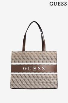 Guess Brown Logo Monique Tote Bag