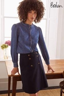 Boden Blue Eloise Mini Skirt