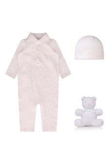 Baby Girls Pink Three Piece Gift Set