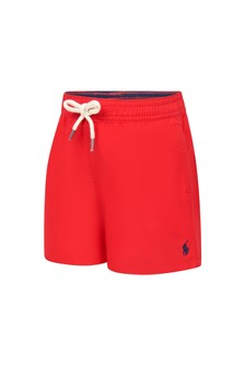 Ralph Lauren Kids Baby Boys Red Swim Shorts