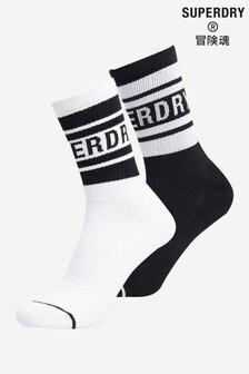 Superdry NYC Mono Socks 2 Pack