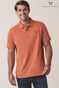 Crew Clothing Company Orange Classic Pique Poloshirt