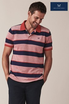 Crew Clothing Red Oxford Poloshirt