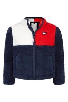 Kids Navy Teddy Jacket