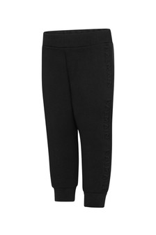 Baby Boys Black Cotton Joggers