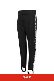Boys Black Logo Ski Pants