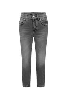 Balmain Boys Black Cotton Denim Jeans