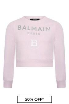 Girls Cotton Logo Sweater