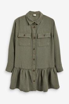 Long Sleeve Shirt Dress (3-16yrs)