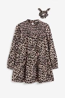 Dress Set With Scrunchie (3-16yrs)