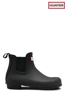 Hunter Original Black Chelsea Boots