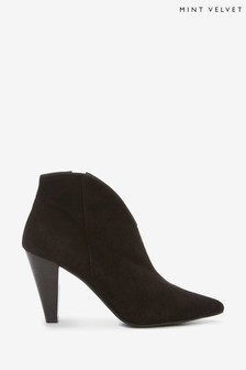 Mint Velvet Black Finny Suede Ankle Boots