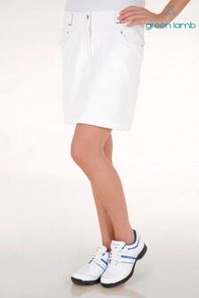 חצאית מכנס קצרה של Green Lamb דגם Tatum בלבן