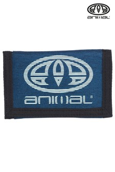 Animal Navy Blue Molokai Tri-Fold Wallet