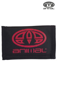 Animal Black Molokai Tri-Fold Wallet