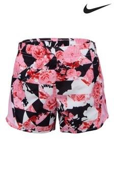 Nike Little Kids Pink Tokyo Floral Shorts