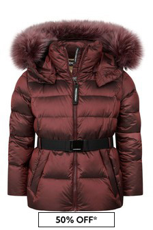 Freedom Day Girls Red Down Padded Jacket