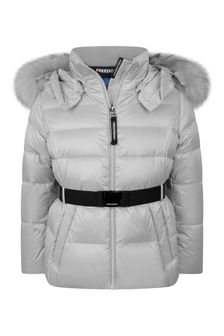 Freedom Day Girls Silver Down Padded Jacket