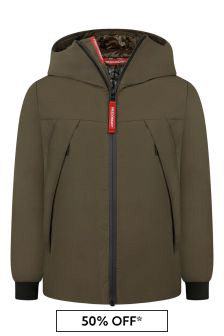 Boys Khaki Zip Up Jacket
