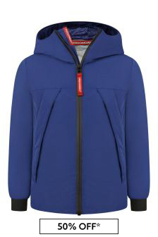 Boys Navy Zip Up Jacket